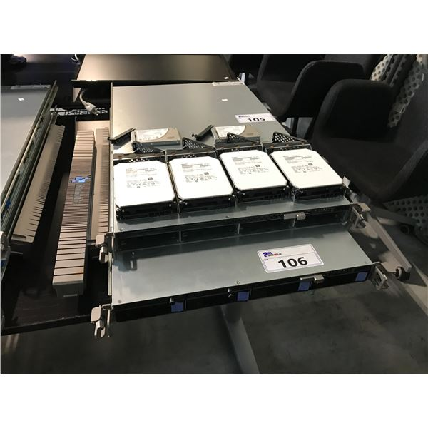 QUMULO QC244 NODE STORAGE CLUSTER COMES WITH 4 6TB HOT SWAP HARD DRIVES  AND 2 INTEL S3500 SERIES