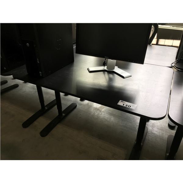 BLACK 4' X 2.5' ADJUSTABLE HEIGHT COMPUTER TABLE