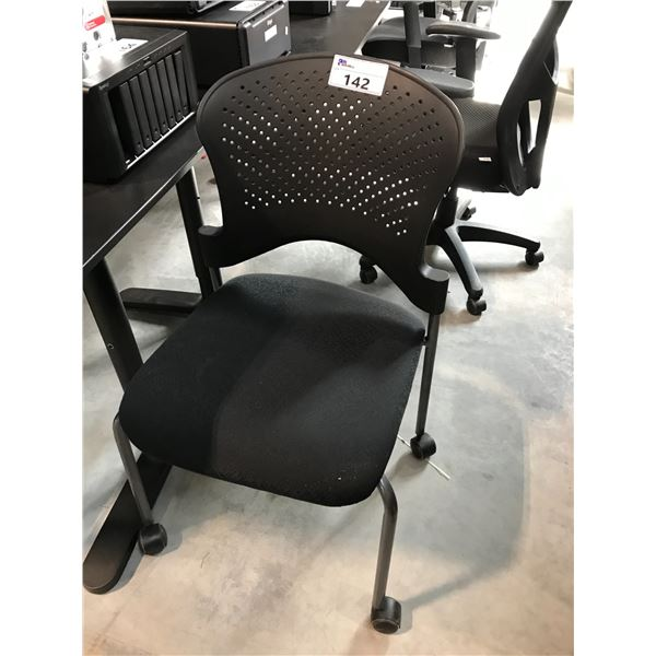 BLACK MOBILE SIDE CHAIR