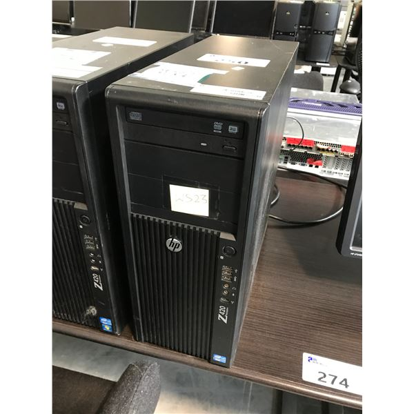 HP Z420 1X 3.7GHZ XEON E5-1620 V2 (8) 64GB (8X8GB) 8 SLOTS/DDR3 MAX: 64GB QUADRO 2000 (1024MB)