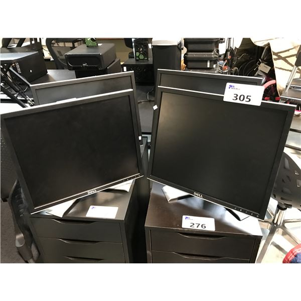 LOT OF POWER BARS, STATIONERY AND 4 SMALL MONITORS