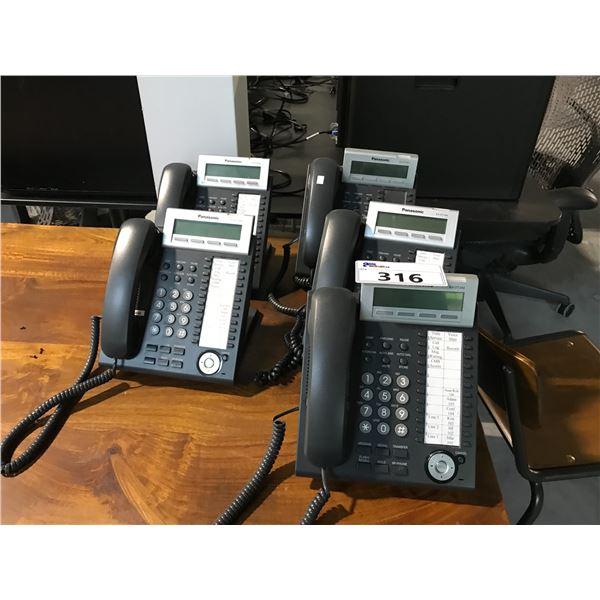 5 PANASONIC KX.DT 343 PHONE HANDSETS