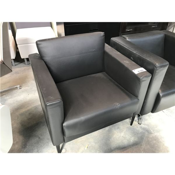 BLACK CLUB STYLE LOUNGE CHAIR (S2)