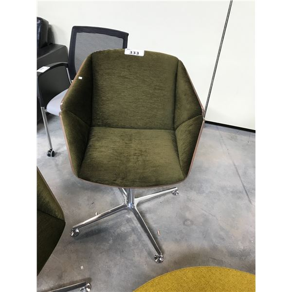 GREEN KIMBALL THEO SWIVEL LOUNGE CHAIR