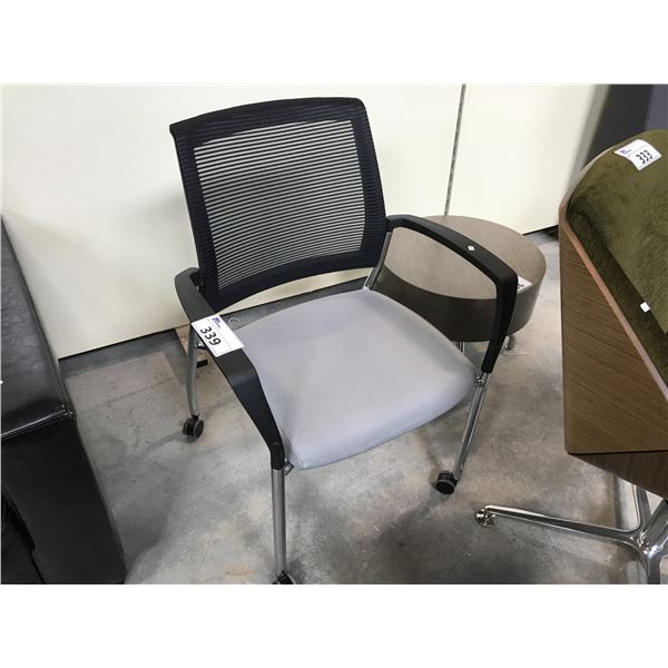GREY/BLACK KIMBALL MOBILE CLIENT CHAIR