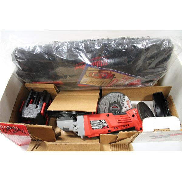 """NEW MILWAUKEE V28 4 1/2"""" GRINDER TOOL KIT NO CHARGER"""