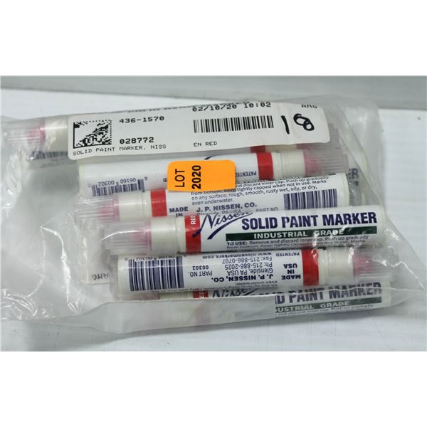 BAG OF ASSORTED NISSEN SOLID PAINT MARKERS