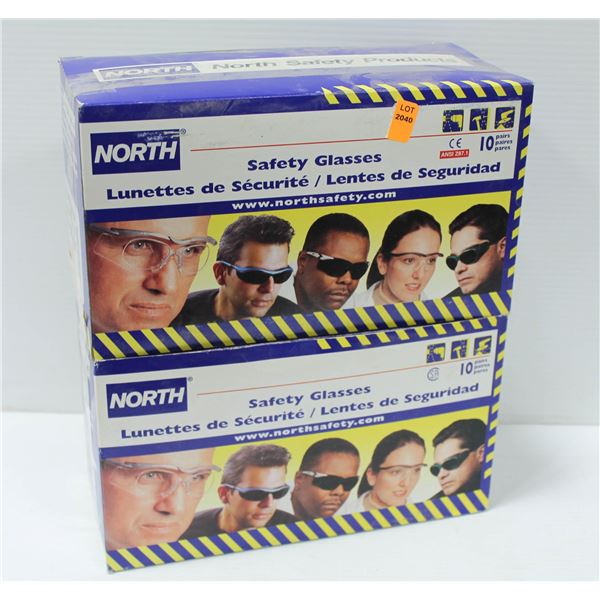 20 PAIR OF NORTH SAFETY GLASSES