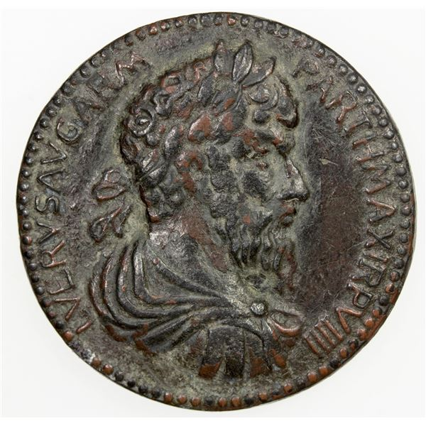 ANCIENT: PADUAN & LATER IMITATIONS: ROMAN EMPIRE: Lucius Verus, cast AE medal (18.27g). VF