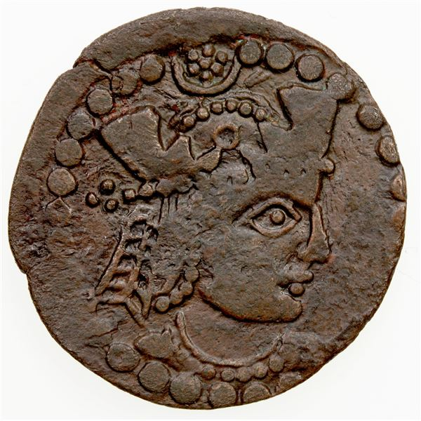 ANCIENT: CHORESMIA: Kanik, early 8th century, AE unit (5.82g). VF-EF