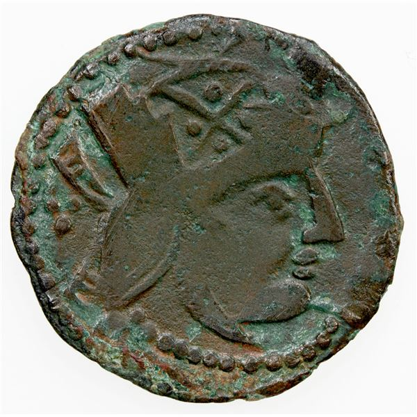 ANCIENT: CHORESMIA: Azkaswar I (Jigan), early 8th century, AE unit (3.27g). VG