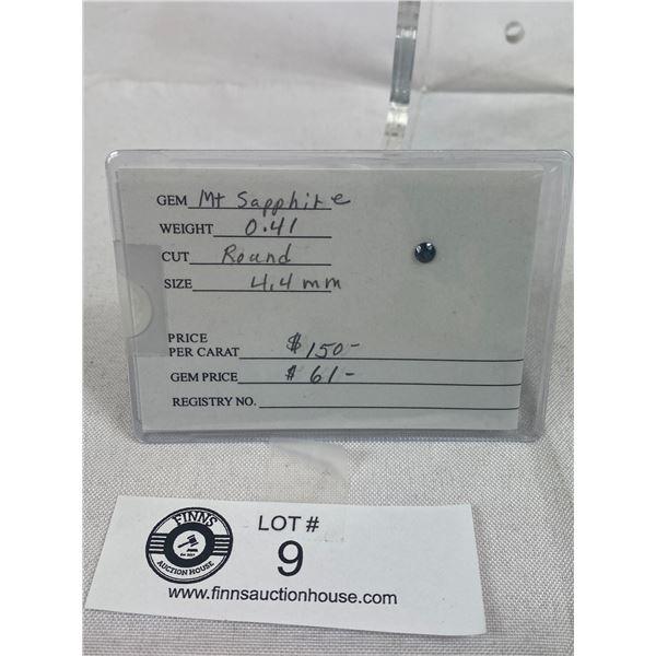 Round Saphire On Card
