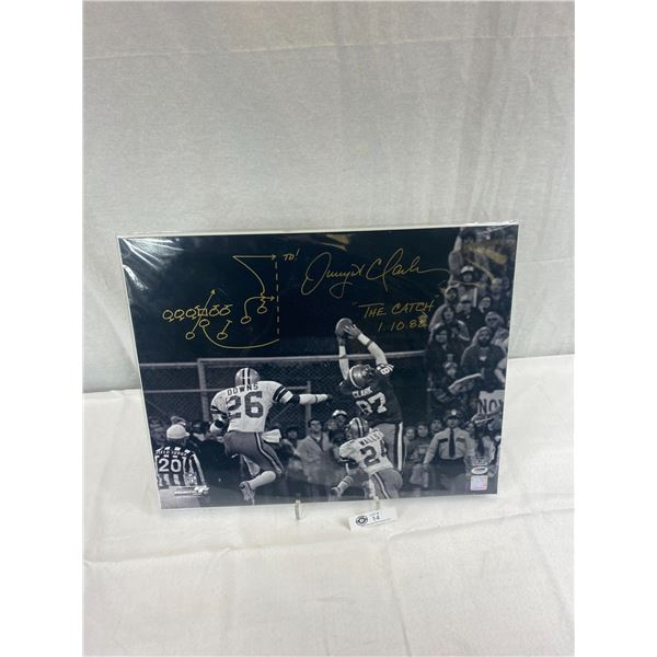 "20""x16"" Autographed Photograph Of Dwight Clark NFL The Catch Hologramed With COA"