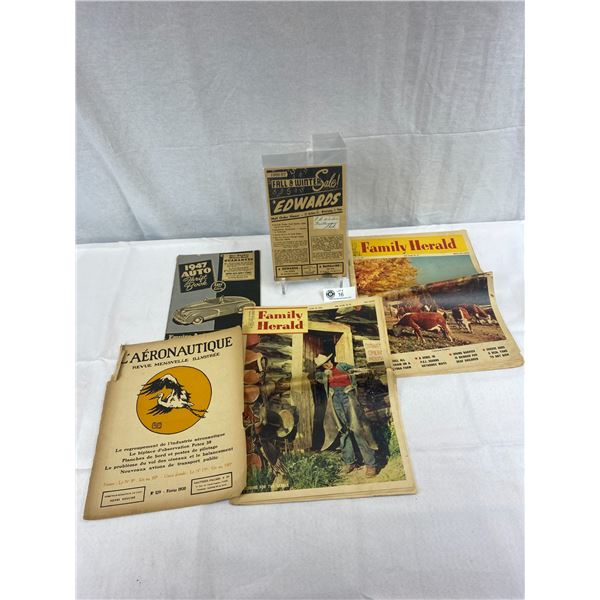 Nice Vintage Ephemera Lot From The 1940's/50's, Automotive, Farming, Etc.