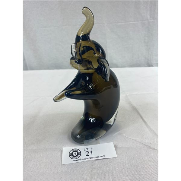 "Rare Murano Sitting Elephant 8.5""T x 4""L"