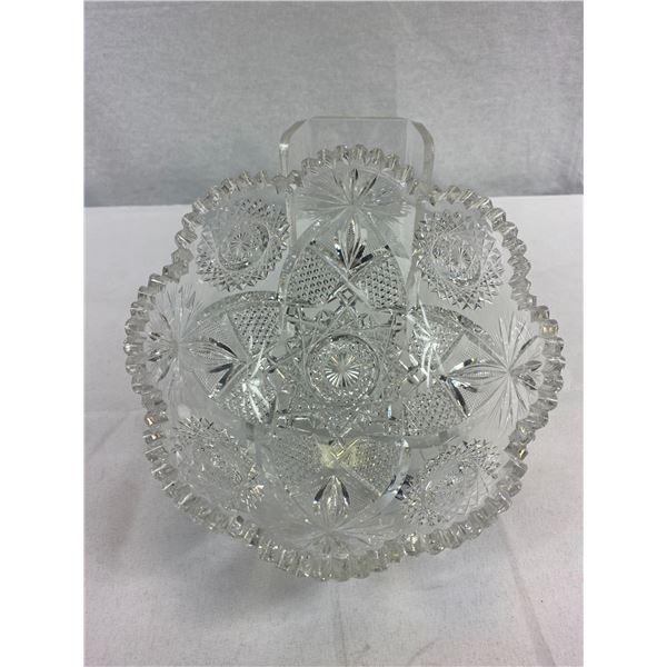 """Antique C. 1911 Signed J. Hoare Plus Co. ABP Cut Glass Bowl -8.5"""" Across ."""