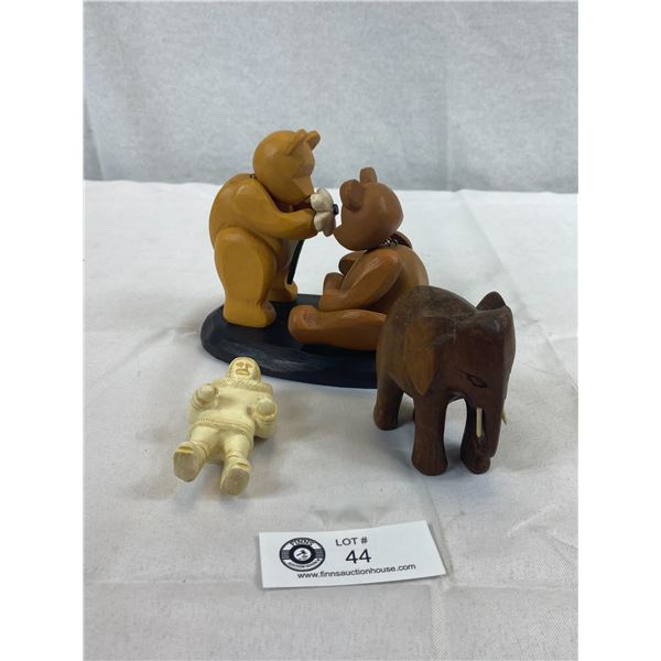 Classic Pozy Bears 'For you', Wood Elephant, Boma Eskimo Figurine