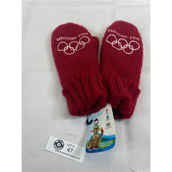 New With Tags Original Issued 2010 Olympics HBC Mittens