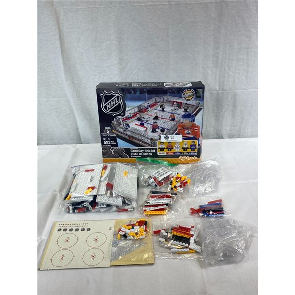 NHL Buildable Game Day Rink Set Compatible With Lego