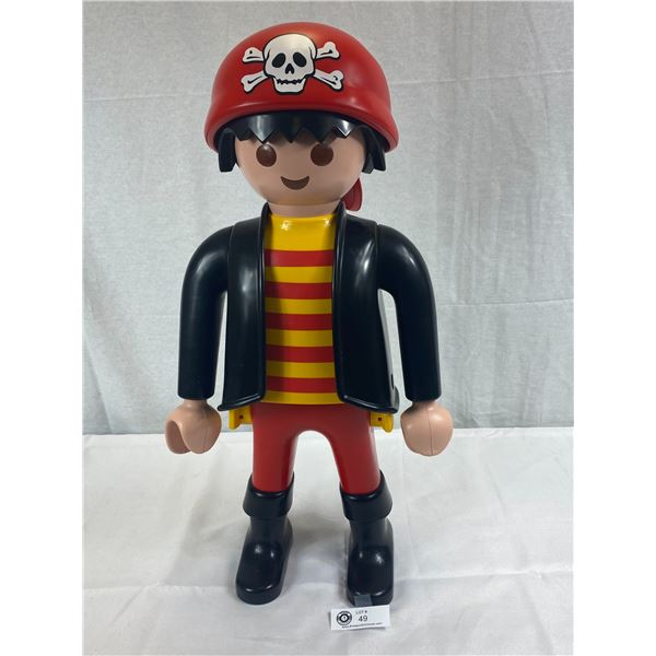 "Playmobile XXL Figure, Pirate, 26""T In Very Good Condition"