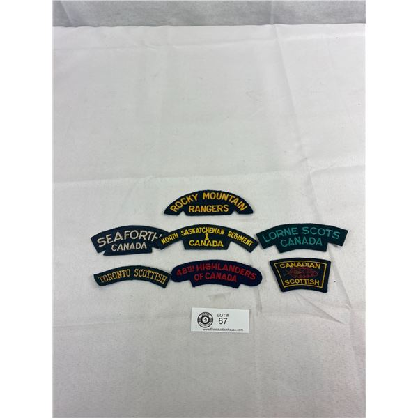 Nice Lot Of Canadian Military Battle Dress Patches