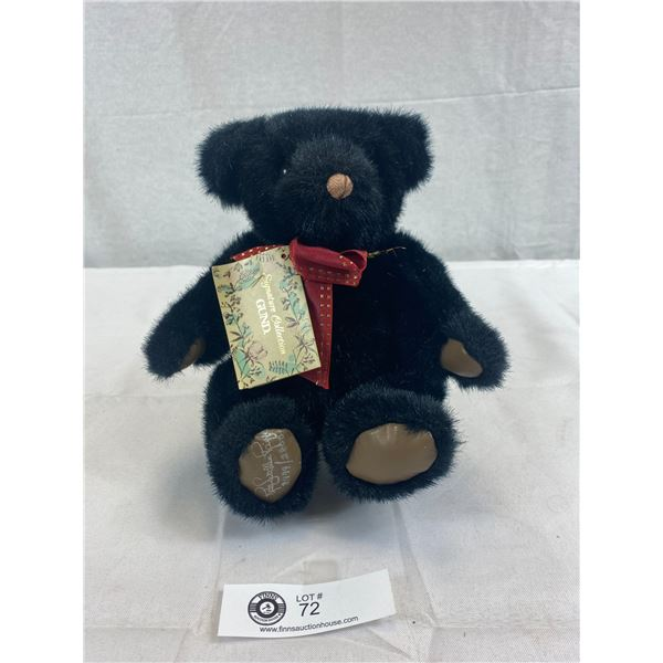 Very Nice Condition Gund Black Jack Bear, Signed, Limited Edition, Comes With Original Tag