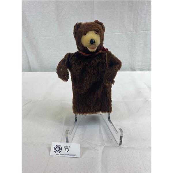 1950's German Stieff Teddy Bear Hand Puppet In Very Good Condition