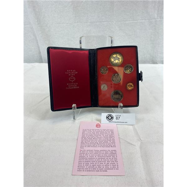 1973 Royal Canadian Mint Proof Set In Leather Case