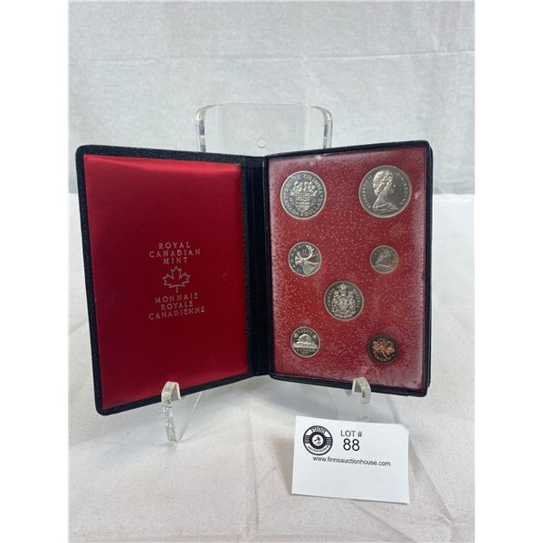 1971 Royal Canadian Mint Proof Set In Leather Case