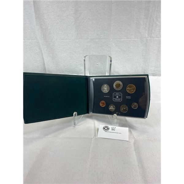 1999 Royal Canadian Mint Specimen Set In Leather Case