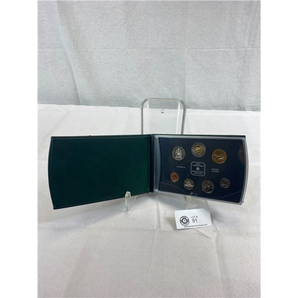 2000 Royal Canadian Mint Specimen Set In Leather Case