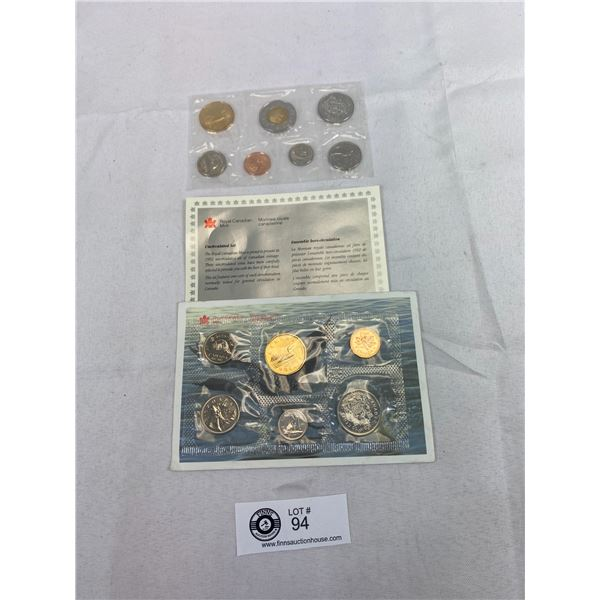 1997 And 1992 Uncirculated Coin Sets In Cellophane