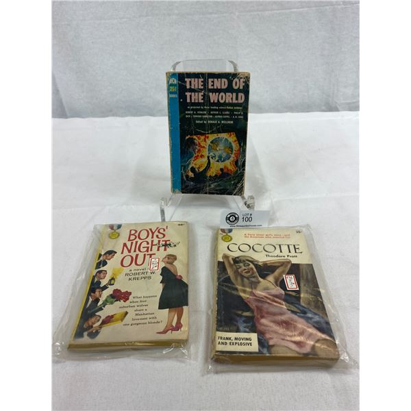 3 Vintage Novels, The End Of The World, Boys Night Out And Cocotte
