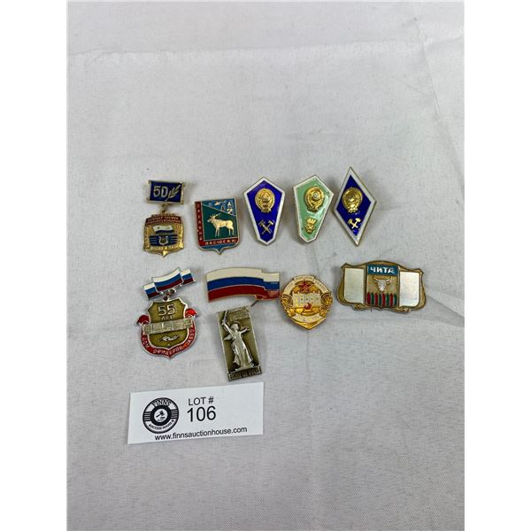 Nice Lot Of Russian Badges, Military, Etc.