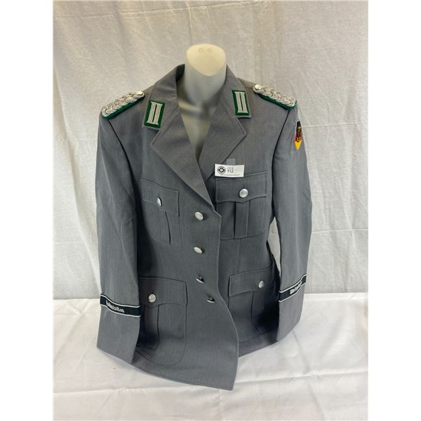 Very Nice German Presidential Guard Officer Jacket With Insignia And Cuff Titles
