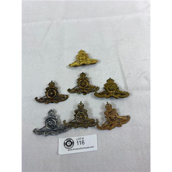 Rare British WW1 Artillery Cap Badges
