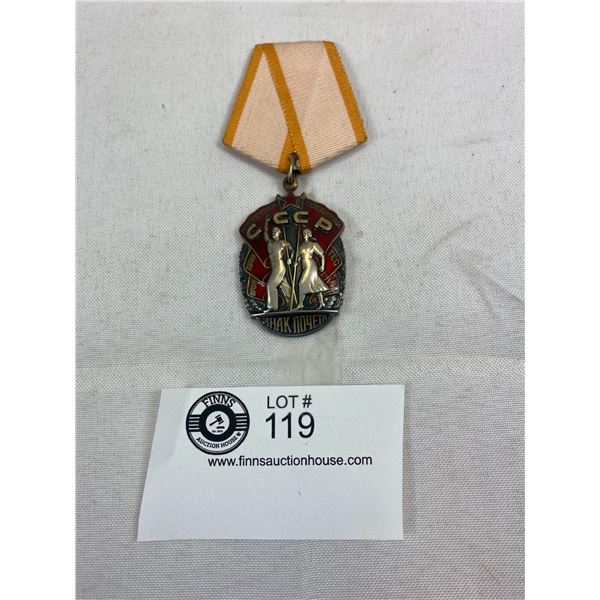 Very Nice Vintage Russian Labour Glory Medal