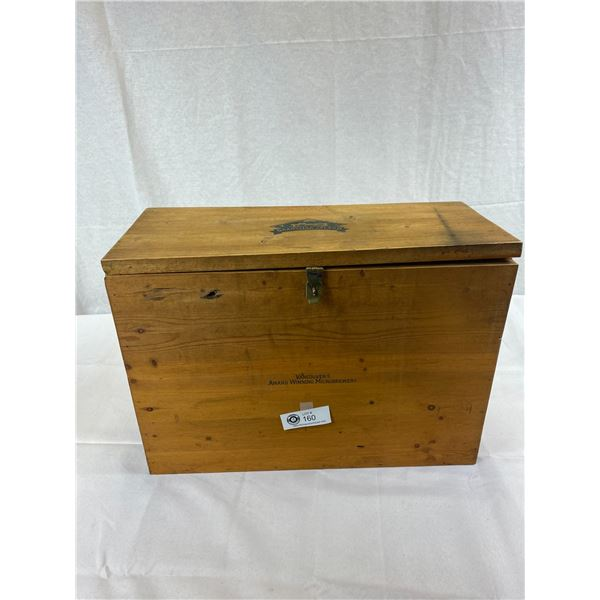 "Grandville Island Brewing Wooden Storage Box, 18.5""x13.5""x7.75"""