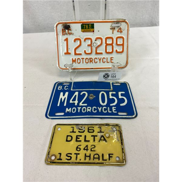 Lot Of BC Motorcycle License Plates