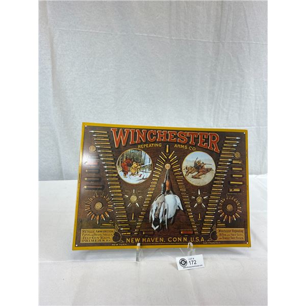 "Modern Winchester 16'X11"" Tin Ammo Sign"