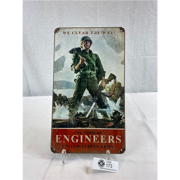 "WW2 US Engineers Reproduction Sign 14""x8"""