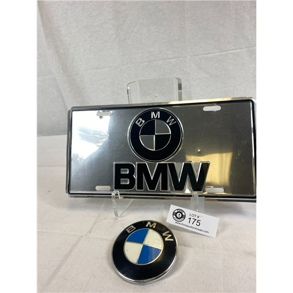 BMW License Plate And Car Badge