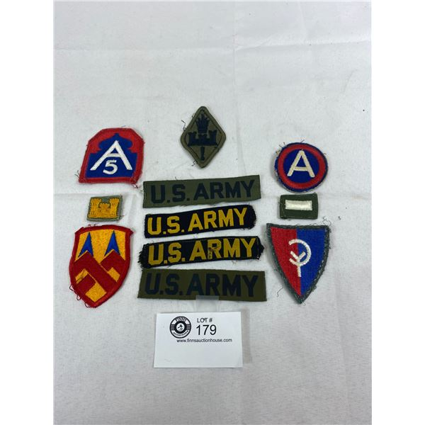 Lot Of Vintage US Army Cloth Insignia