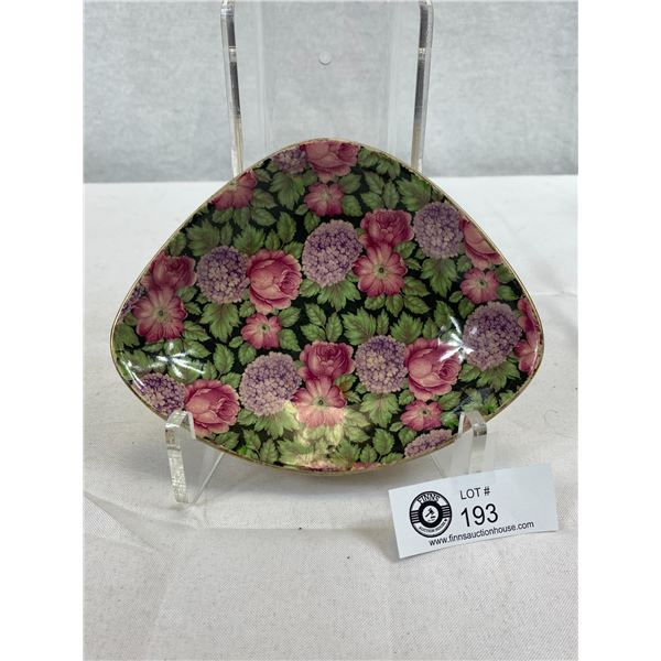 Unusual Chintz Tapestry Patterned Dish
