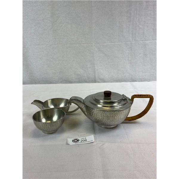 Very Nice Quality Arts And Craft Pewter Tea Set