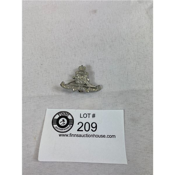 Artillery Sweetheart Pin Marked Antimony, Military