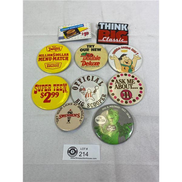 10 Vintage Fast Food Badges