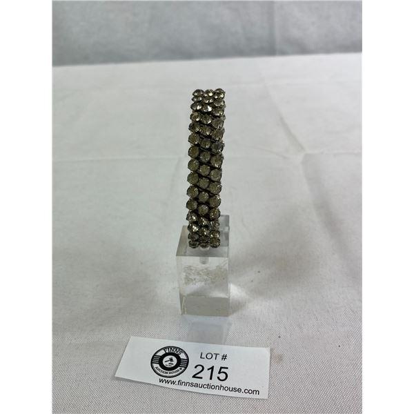 1930's Expandable Rhinestone Bracelet