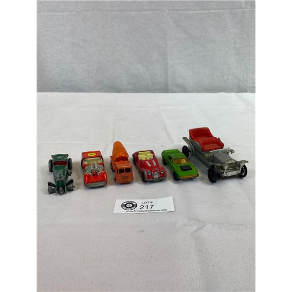 5 Vintage Toy Cars, Matchbox, Etc.