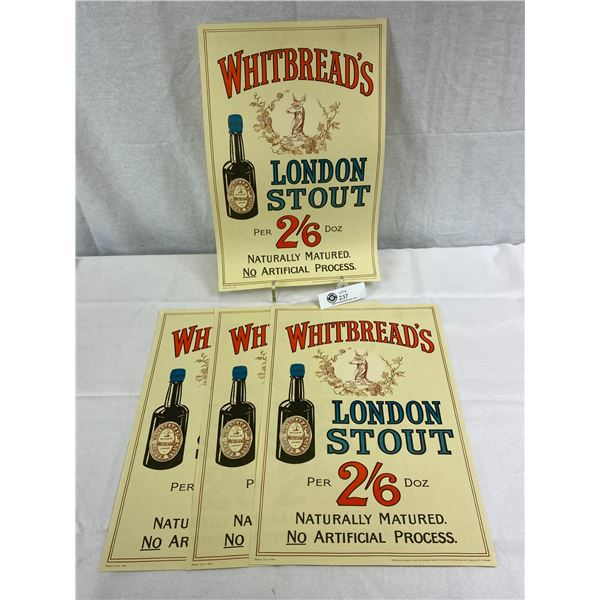 4 Whit Breads Stout Beer Prints